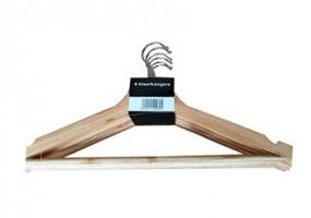 Kleiderbügel aus Holz 6er Pack