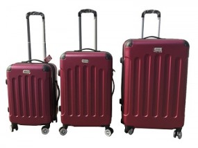 Koffer - Trolley 3er Set burgundrot NICOMAR AVALON