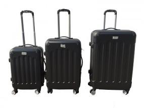 Koffer - Trolley 3er Set schwarz NICOMAR AVALON
