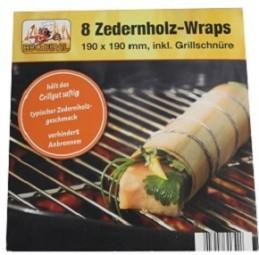 Zedernholz Wraps 8er Pack
