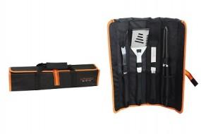 Grillbesteck-Set 4tlg. Miyako BBQ inkl. Tasche