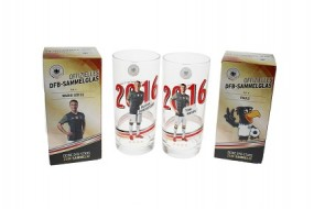 F DFB Glas Fußballspieler 0,3 L