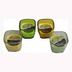 R Kerze Citronella Glas klar oder farbig