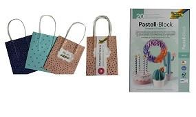 R Papiertüten Hotfoil 3er Set & Pastell-Block