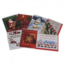 bsb Weihnachtskarten mini mit Umschlag sort.
