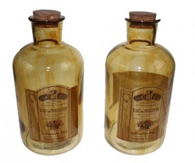 ! Deko Flasche Apothekerglas Hx16,5cm