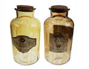! Deko Flasche Apothekerglas Hx20,5cm