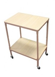 ! Tisch mit Rollen 65x50x35cm rosa