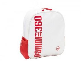 Panini Kinderrucksack 25x23x10 cm weiß/rot