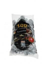 Teelichter 100er Pack im Beutel, weiß