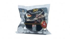 Teelichter 30er Pack im Beutel weiß
