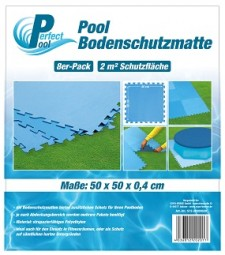 SO Poolmatte 8er Pack 50x50 cm blau