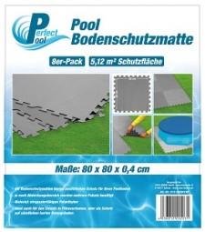 SO Poolmatte 8er Pack 80x80 cm grau