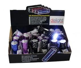 ! Taschenlampe mit Lasche aus ALU im Display