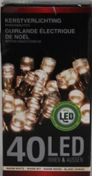 W Lichterkette in/outdoor 40 LED