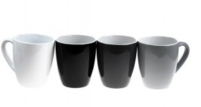 Kaffeetasse Porzellan 35cl 4 ver. Farben