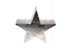 W Deko Stern Silber-Hammerschlag Hx26 Tx8cm