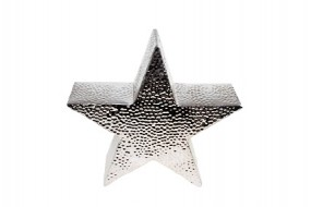 W Deko Stern Silber-Hammerschlag Hx36 Tx8cm