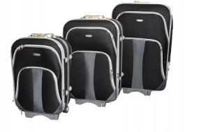 Koffer - Trolley 3er Set aus Polyester schwarz