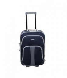 Koffer - Trolley 3er Set aus Polyester dunkelblau