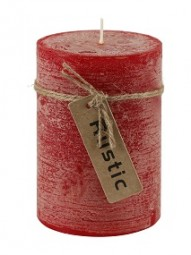 Kerze Rustic 7x10cm, rot