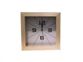 Wanduhr aus Holz 25x25 cm