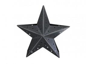 W Metallstern mit Teelichthalter 36x15x35 cm, grau-washed