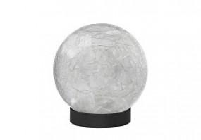 Glaskugel LED Tischlampe mit Batterie und Timer 2er Pack