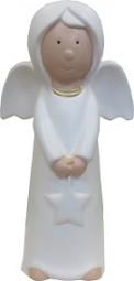 W Dekofigur Engel 60 cm, weiß