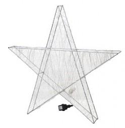 W Stern aus Metalldraht 190 LED Hx60cm