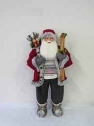 W Weihnachtsmann mit Ski 160 cm rot