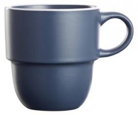 Steingut Kaffeebecher 36 cl, dunkelblau