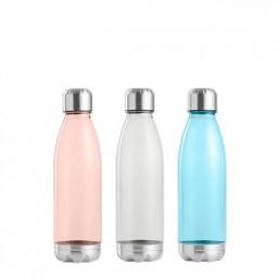 Trinkflasche Kunststoff/Edelstahl 650 ml, versch. Farben