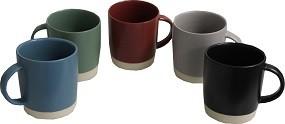 Kaffeebecher Steingut 5 versch. Farben