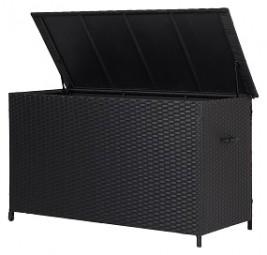Kissenbox Rattan auf Rädern 170x75x95 cm