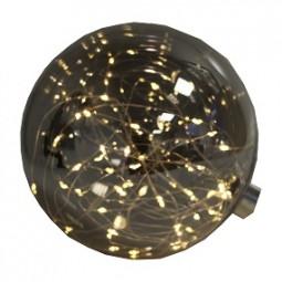 W LED Glaskugel 15 cm , 40 LED mit Timer