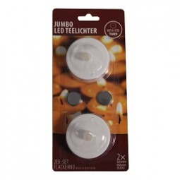 Teelichter 2er Pack Jumbo mit Timer inkl. Batterien