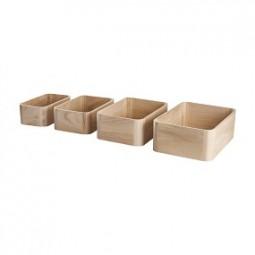 Aufbewahrungskiste aus Holz 4er Set
