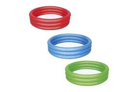 SO 2022 Pool 3 Ring Ø 122cm in rot, blau, grün BESTWAY®