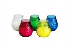 Kerze Citronella im Glas in 5 Farben
