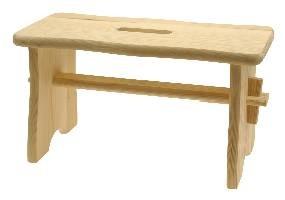 Fußbank - Hocker aus Holz